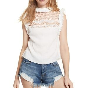 NWT Free People Simply Smiles Crochet Top